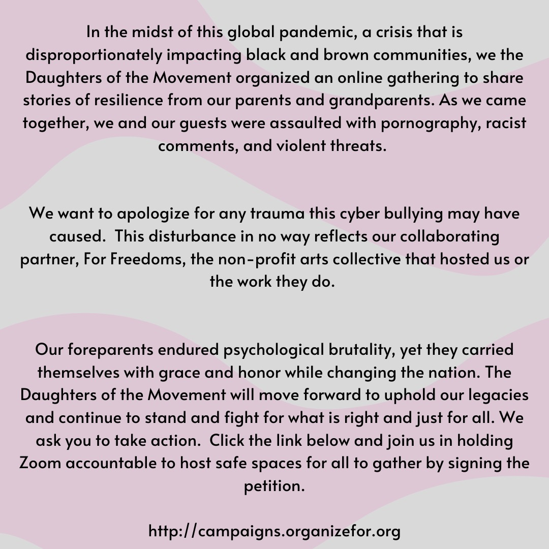 The Statement from Daughters of the Movement