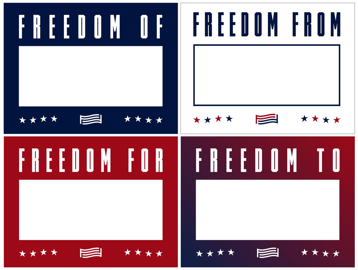 For Freedoms Sign Project + Voter Registration Drive