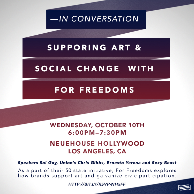 Supporting Art & Social Change with For Freedoms