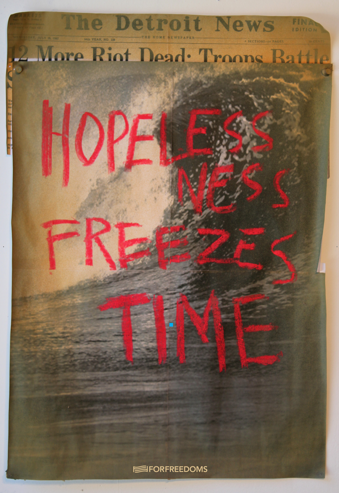 Edgar Arcenaux, Hopelessness Freezes Time