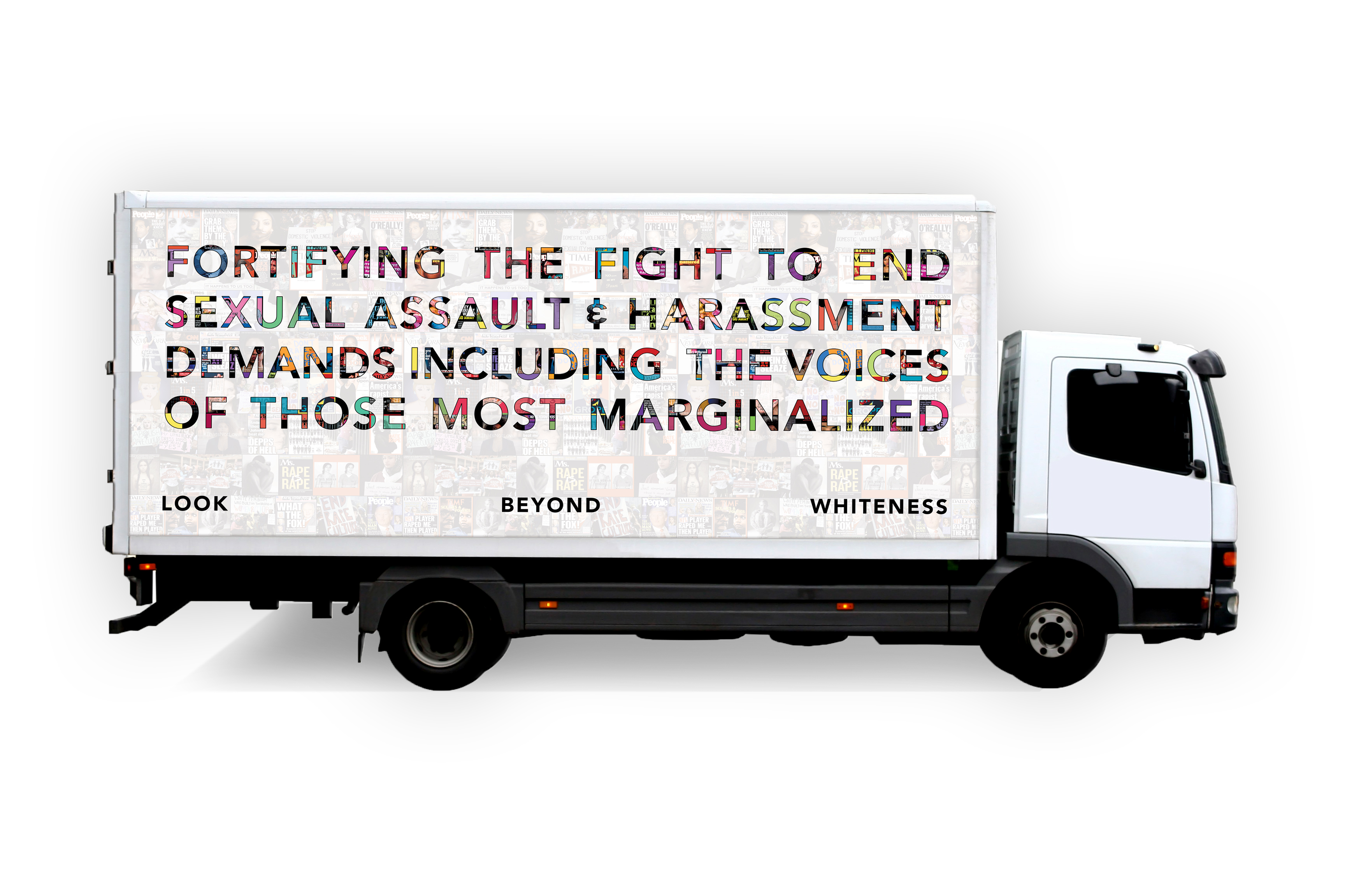 Women on the Move: mobile billboard by LOUDER THAN WORDS