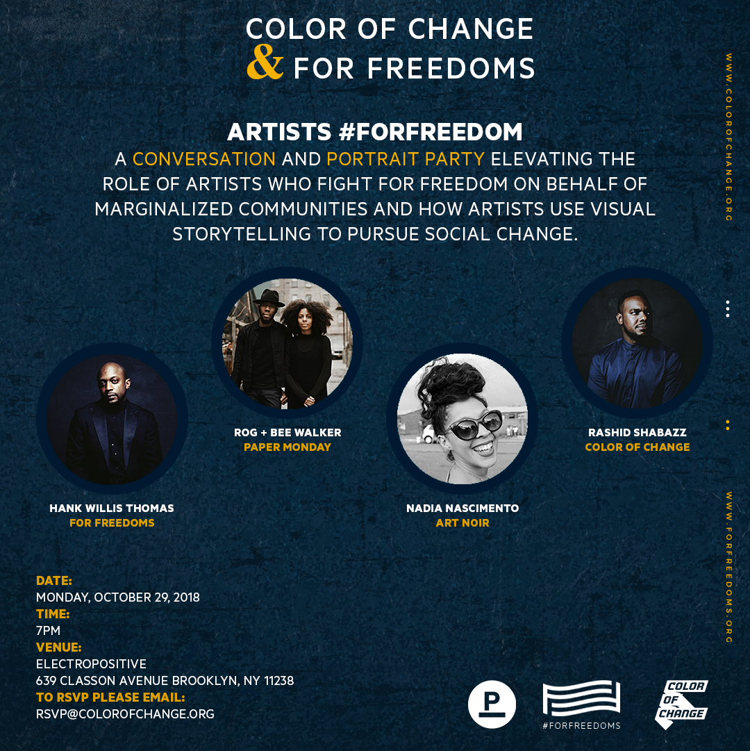 Artists #ForFreedoms
